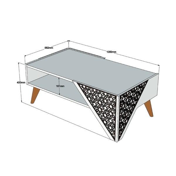 Konferenčný stolík Beril Walnut, šírka 105 cm