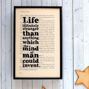 Plagát v drevenom ráme Sherlock Holmes Life