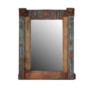 Zrkadlo Orient 71x91 cm, modrá patina