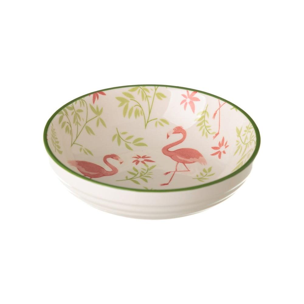 Porcelánová miska Unimasa Flamingo, 39 × 12,6 cm