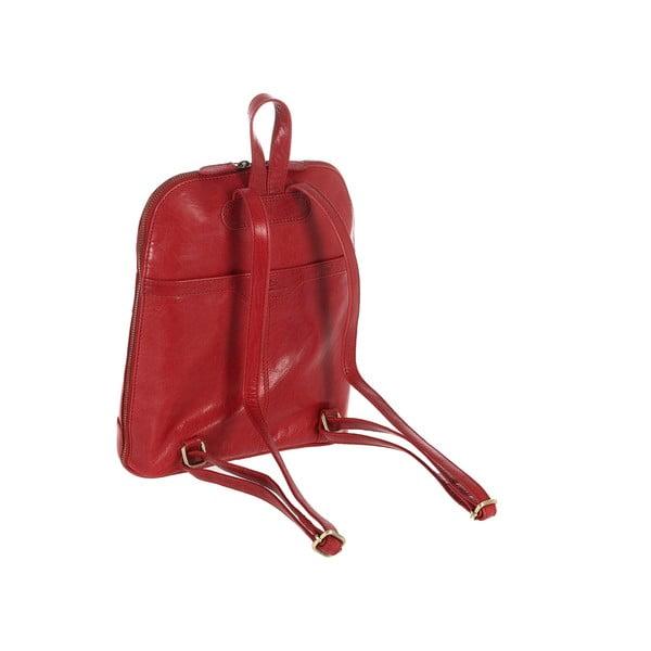 Kožený batoh Florence Cranberry