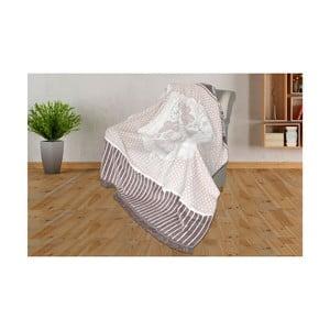 Deka s prímesou bavlny Aksu Viviana, 200 × 150 cm