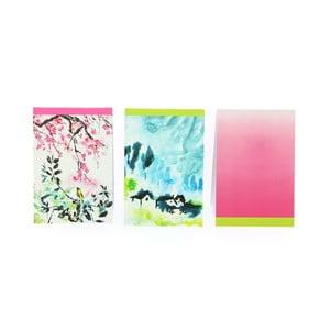 Sada 3 zápisníkov Blueprint Collections Designers Guild