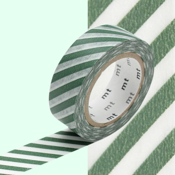 Washi páska Stripe Cobalt Green