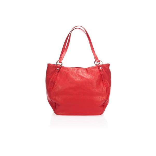 Kožená kabelka Krole Kelly, červená