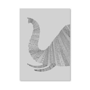 Plagát Elephant Grey od Florenta Bodart, 30x42 cm
