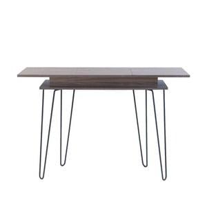 Konzolový stolík s úložným priestorom v dekore orechového dreva 13Casa Elektra