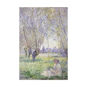 Obraz Claude Monet - Woman Seated under the Willows, 90x60 cm