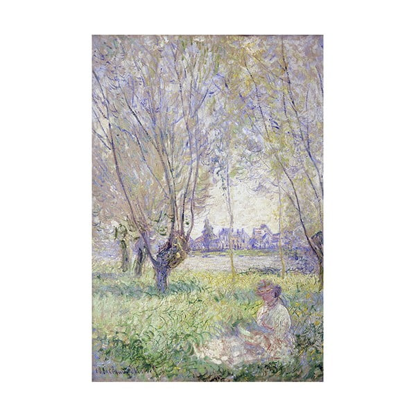 Obraz Claude Monet - Woman Seated under the Willows , 60x40 cm