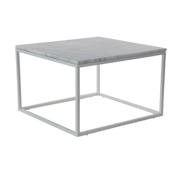 Mramorový konferenčný stolík so sivou konštrukciou RGE Accent, 75 x 75 cm