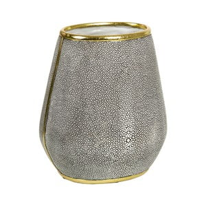 Sivá váza s detailmi v zlatej farbe Santiago Pons Pearl