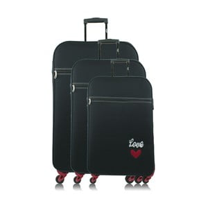Sada 3 tmavomodrých cestovných kufrov na kolieskach INFINITIF Love