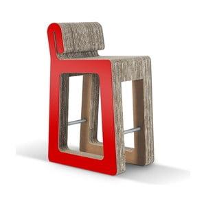 Barová kartónová stolička Hook Stool Red