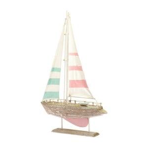 Drevená dekorácia Boat Pink, 31x49 cm