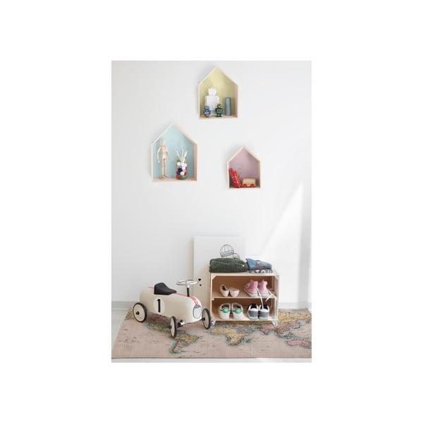 Sada 3 nástenných poličiek Really Nice Things Houses, farebná