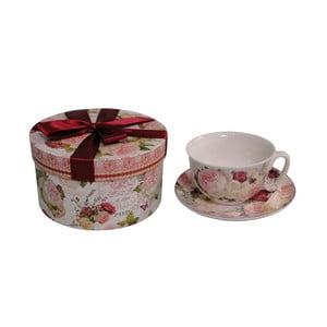 Šálka s tanierikom v darčekovej krabičke Romance