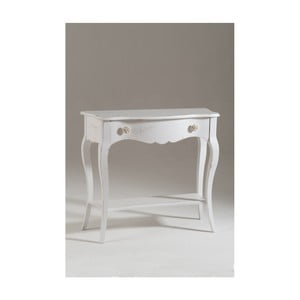 Biely drevený konzolový stolík Castagnetti Sheila