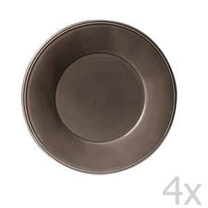 Sada 4 dezertných tanierov Constrance Pepper, 23.5 cm