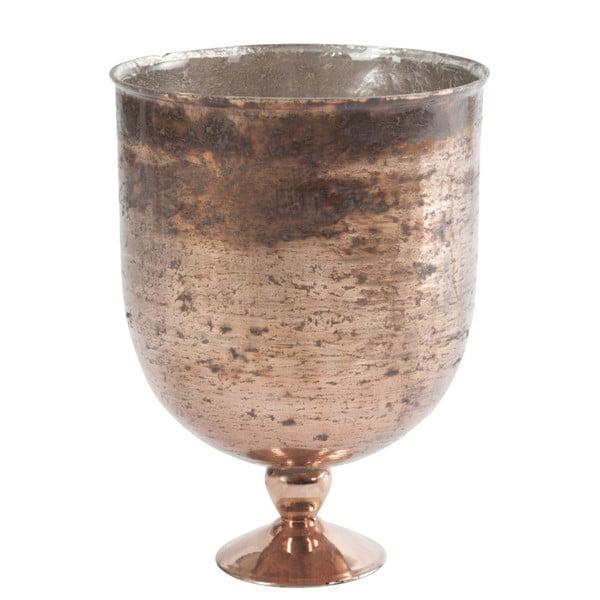 Guľatá váza na nožičke Antique