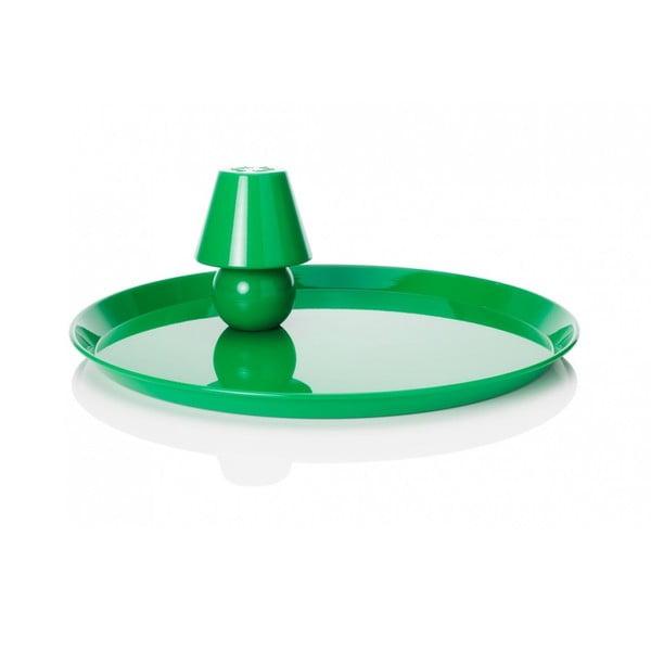 Stolná lampa s podnosom Fatboy Snacklight Green