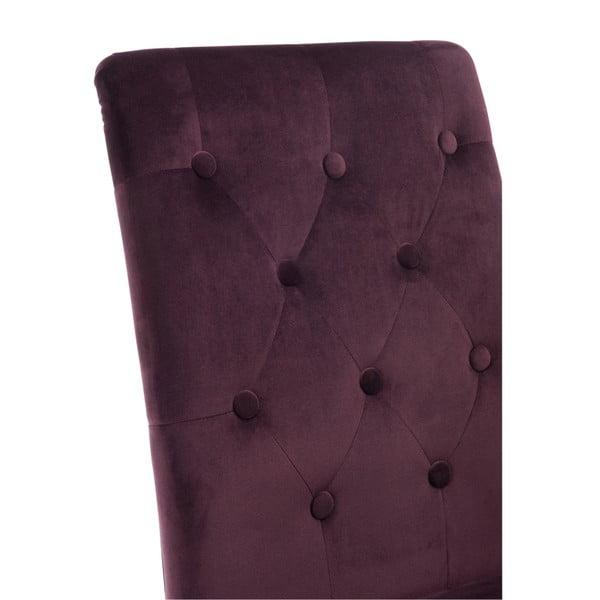 Vínová zamatová stolička Aubergine