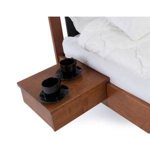Hnedomorený ručne vyrobený nočný stolík z masívneho brezového dreva Kiteen Koli