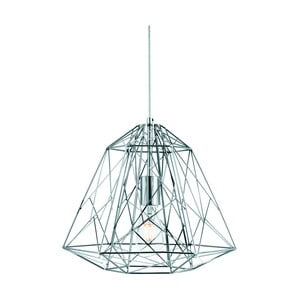 Stropné svietidlo Searchlight Geometric Cage, strieborná