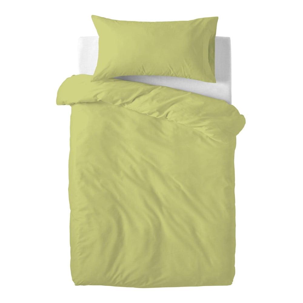Zelené detské bavlnené obliečky Happy Friday Basic, 100 x 120 cm