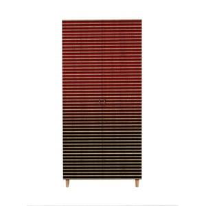 Dvojdverová šatníková skriňa Stil Red, 90×192 cm