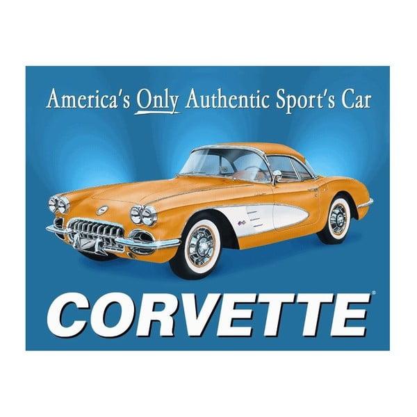 Plechová ceduľa Corvette, 30x40 cm