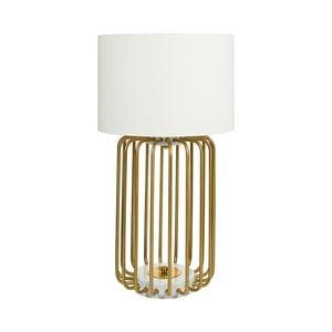Biela stolová lampa so základňou v zlatej farbe Santiago Pons Pam, ⌀ 40 cm