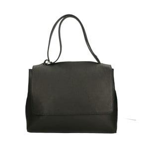 Čierna kožená kabelka Roberto Buono Barbara