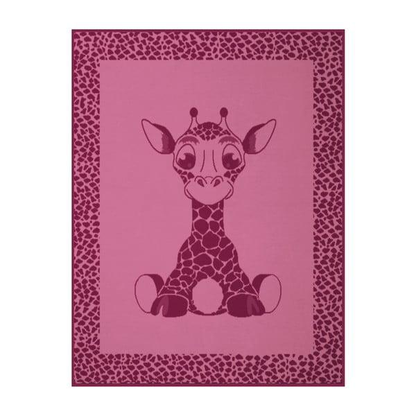 Deka Giraffe Pink, 75x100 cm