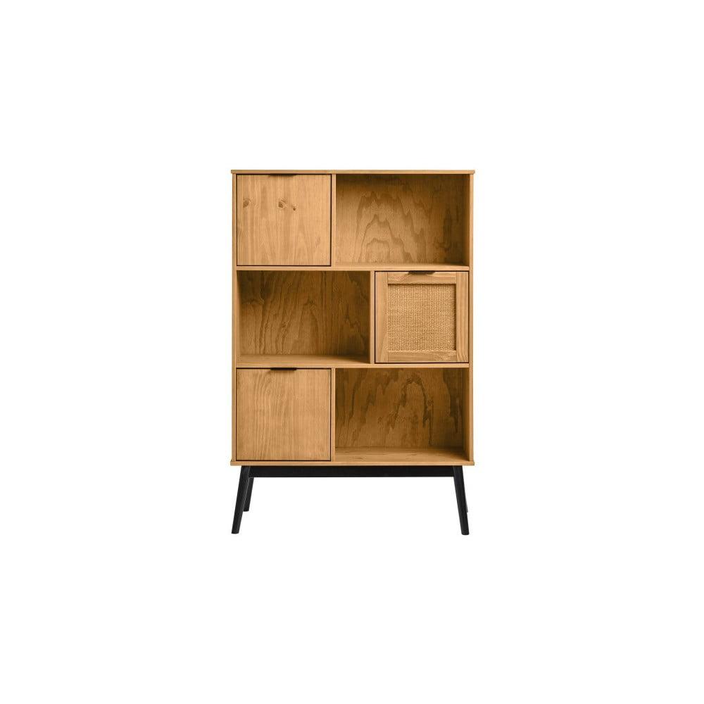 Knižnica z borovicového dreva Marckeric Natasha
