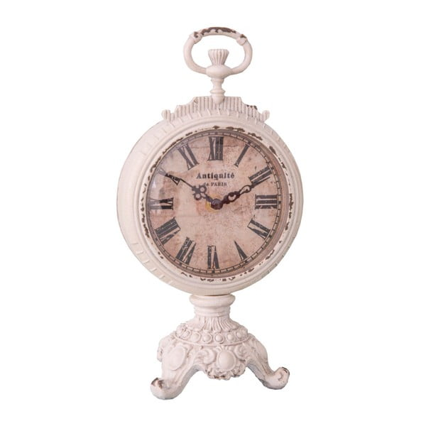 Biele hodiny Antic Line Pendulette Baroque
