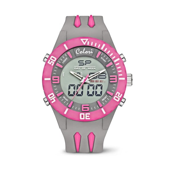 Hodinky Colori Anadigi 48 Neon Pink