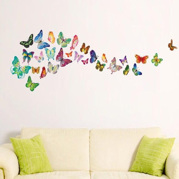 Samolepka na stenu Walplus Veselé motýliky