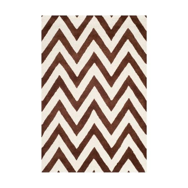 Vlnený koberec  Safavieh Stella Brown, 121x182 cm