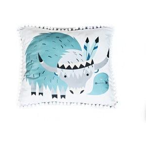 Modro-biely vankúš VIGVAM Design Cute Tribe