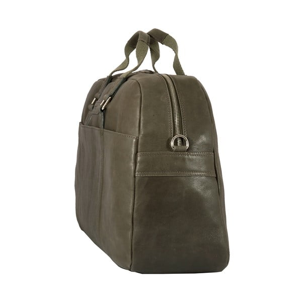 Pánska cestovná taška Vintage Overnight Green Army