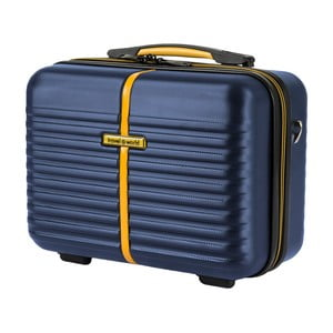 Modrý kozmetický kufrík Travel World, 28×35cm