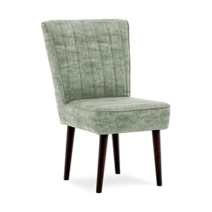 Khaki zelená čalúnená stolička Vivonita Leila