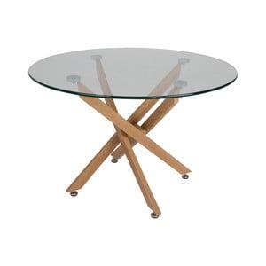 Jedálenský stôl se skleněnou doskou Canett Luri, ø 100 cm