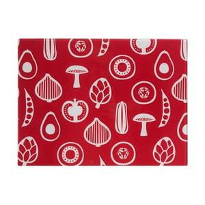 Červená sklenená doska na krájanie Premier Housewares