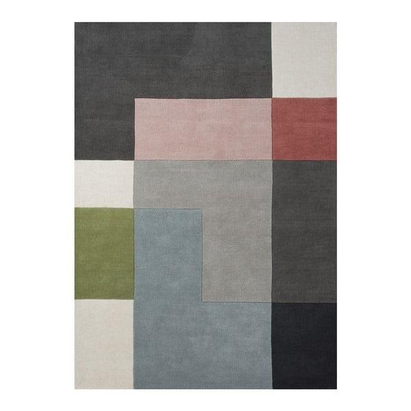 Vlnený koberec Tetris Powder, 200x300 cm