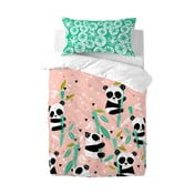 Detské bavlnené obliečky Moshi Moshi Panda Garden,115×145cm