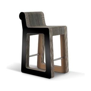 Barová kartonkartónová ová stolička Knob Stool Black