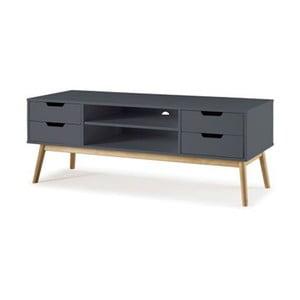 Sivý TV stolík z borovicového dreva SOB Van
