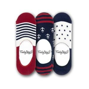 Sada 3 párov nízkych ponožiek Funky Steps Me, veľkosť 39 - 45