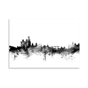 Plagát Americanflat Amsterdam Skyline, 42 x 30 cm